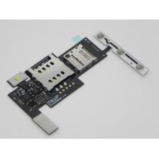 LG P970 Optimus Шлейф cо считывателем сим и карты памяти